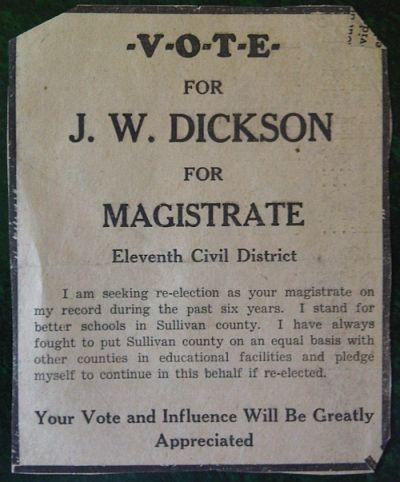 John Wilburn Dickson Magistrate
